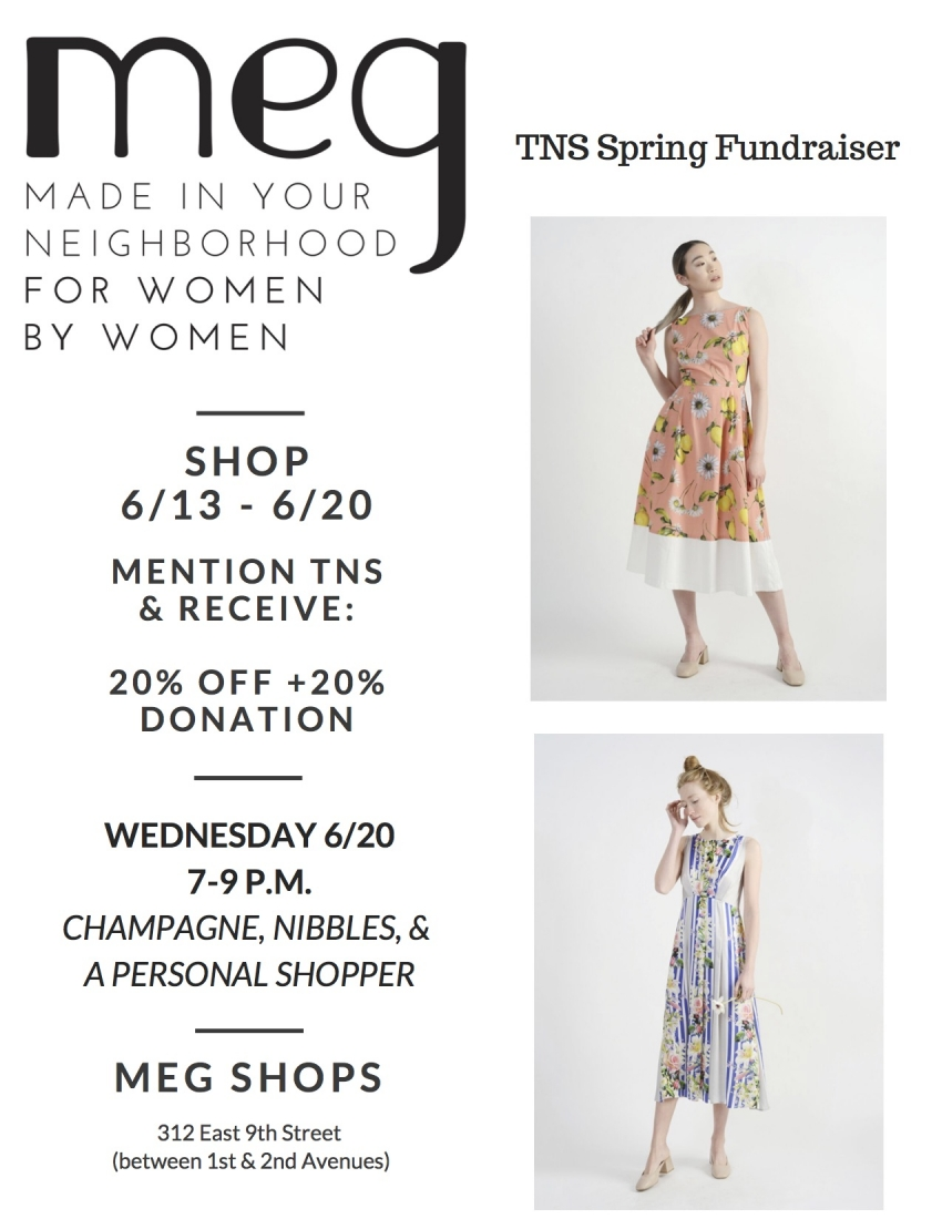 Meg Spring Fundraiser for TNS