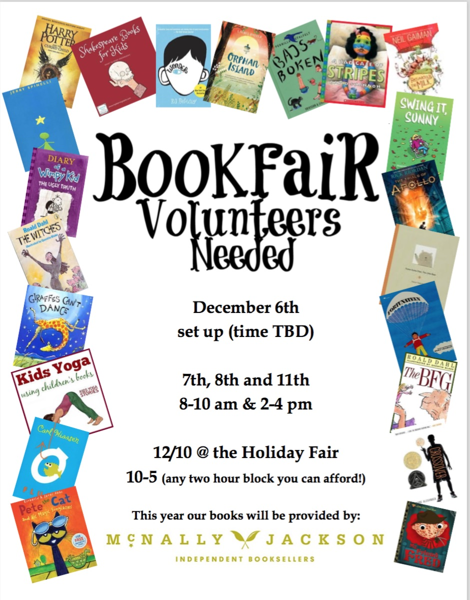Book Fair - call for volunteers