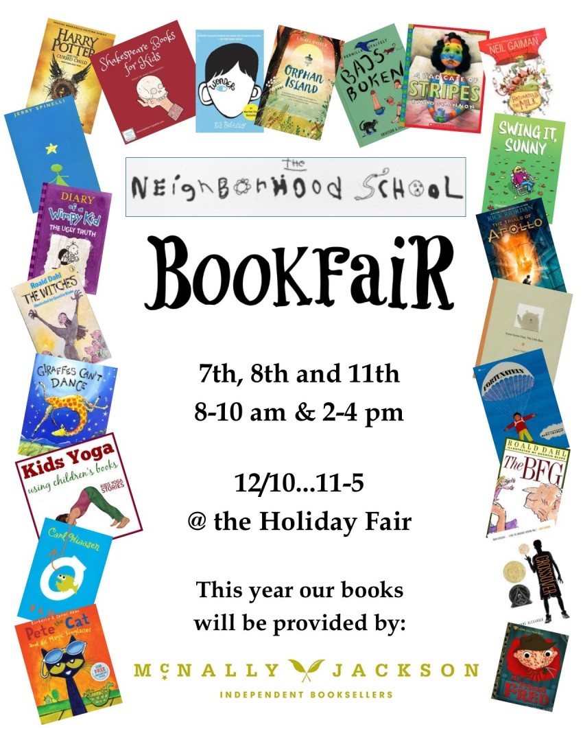 Witner Book Fair is happening this week!!! Volunteers still needed.  Bring those wish lists!!!!!