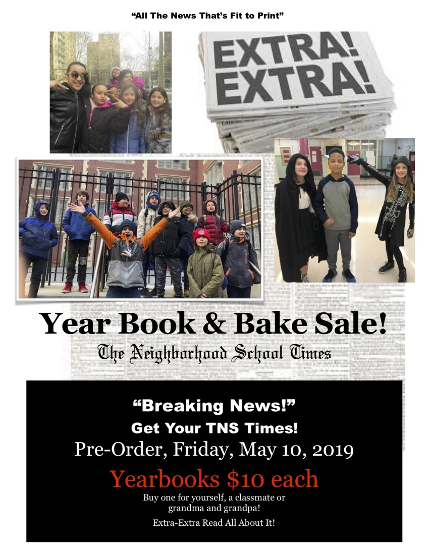 Yearbook Committee Bake Sale & Yearbooks