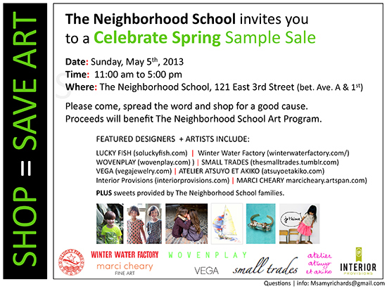 Sample Sale May 2013